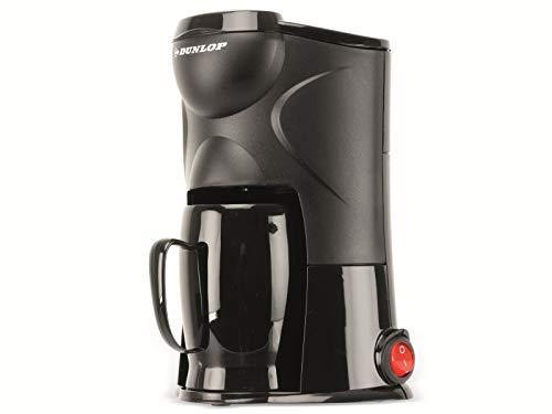 Dunlop Koffiezetapparaat voor 1 kopjes, 170W, continu filter, ideaal voor op reis, aansluiting op sigarettenaansteker, voor auto, vrachtwagen, camper, met aan- en uitschakelaar (12 V)