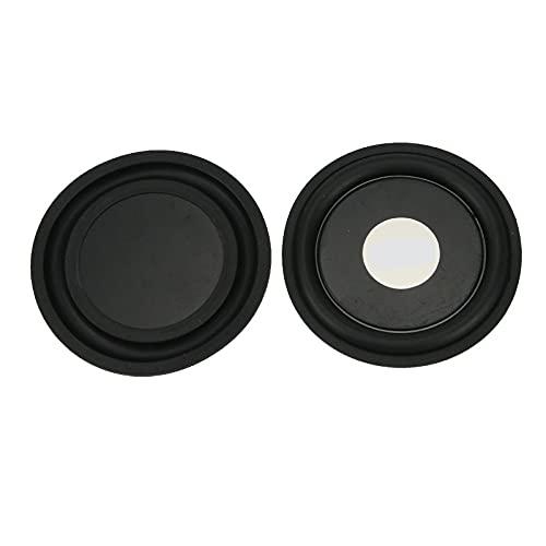 Wnuanjun 1 Paare 95mm 4 Zoll Gummi Bass Vibrationsplatte Membran Woofer Strahlung Passive Kühlerlautsprecher für Subwoofer DIY