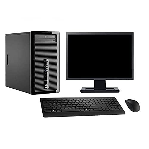 HP Torre 400 G1 pantalla 27' Intel i7-4770 RAM 16 GB disco 500 GB Windows 10 WiFi (reacondicionado)