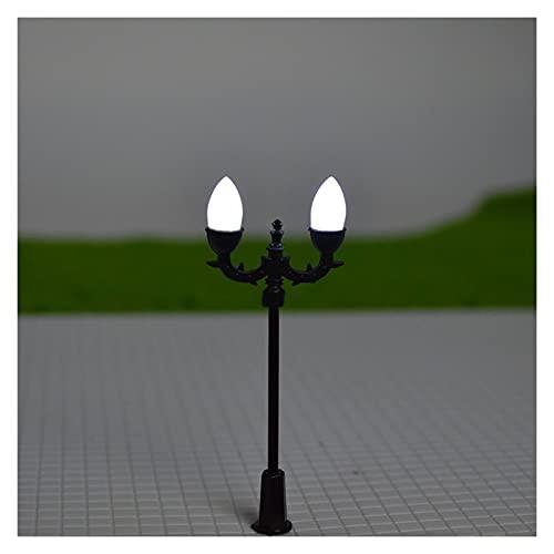 Pequeña gente Lámpara de tren ferroviaria Luz de jardín miniatura 3V LED Plástico 7,2 cm Tabla de arena de doble cabeza Arquitectura Diseño de la construcción 50pcs / lot Personajes humanos en miniatu