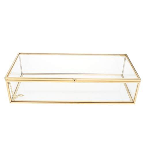 oshhni Contenedor de Exhibición de Cajas de Almacenamiento de Joyería Transparente con Tapa para Pulsera de Baratija