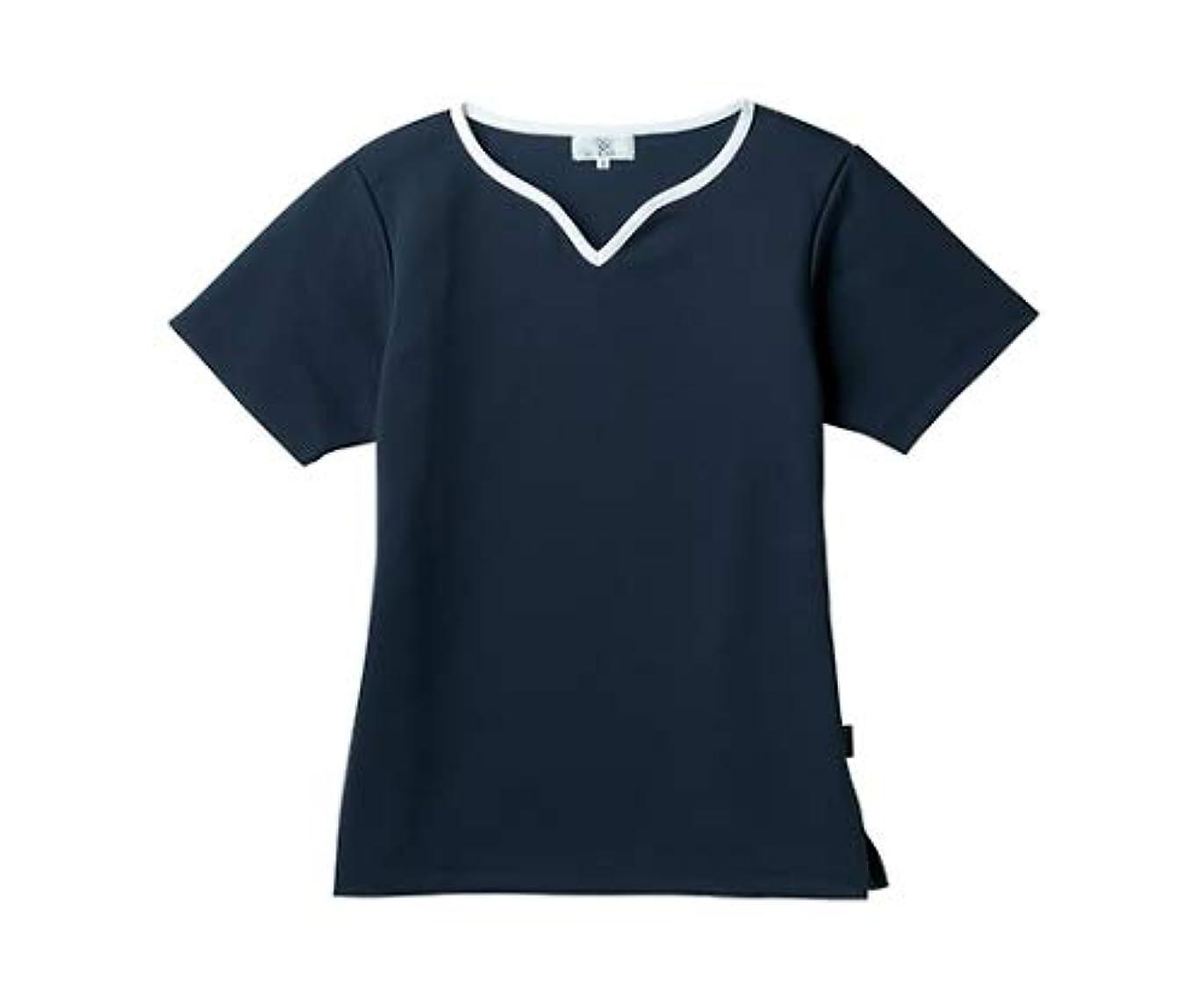 バックアップポスト印象派ホームレストンボ/KIRAKU レディス入浴介助用シャツ CR161 S ネイビー