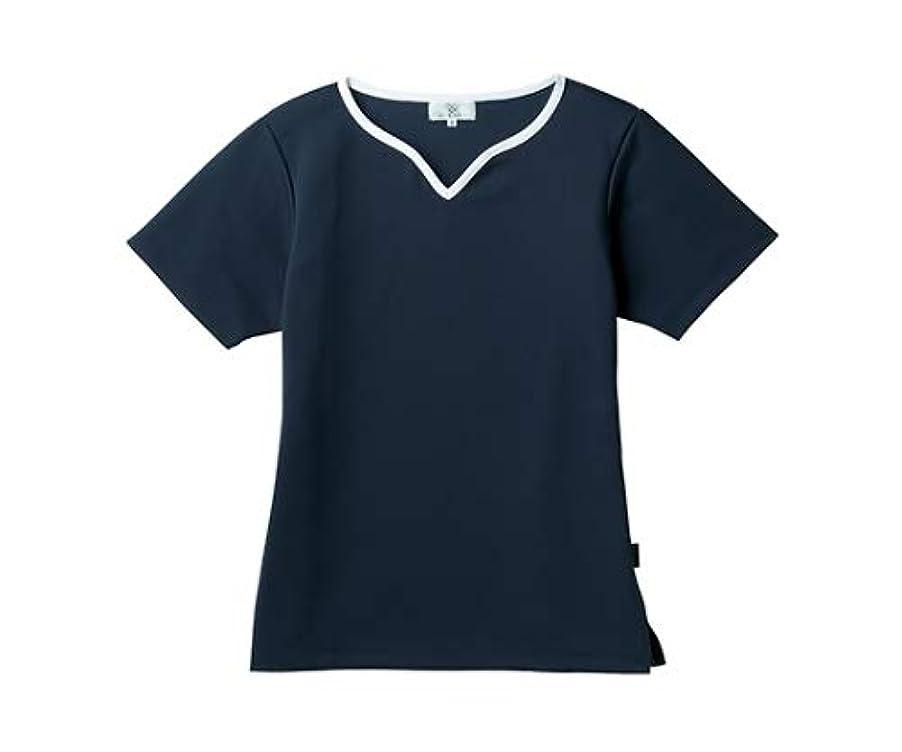 ブリリアントぐるぐる麻酔薬トンボ/KIRAKU レディス入浴介助用シャツ CR161 M ネイビー