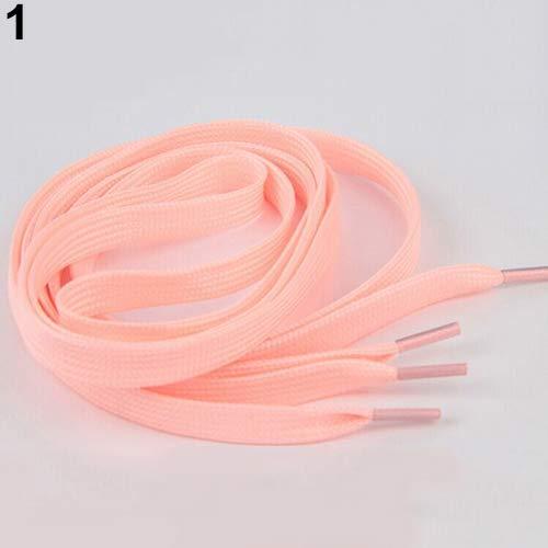 strimusimak 100 cm EIN Paar Leuchtende Schnürsenkel Polyester Neon Farbe Sneaker Sportschuhe Spitze Pink