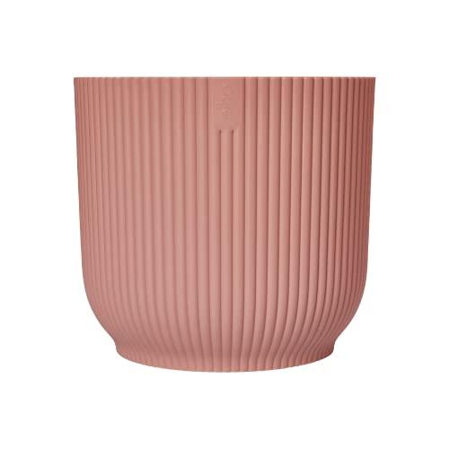 Elho Vibes Fold Round 22 - Macetero - Delicate Pink - Interior - Ø 22.015 x H 20.16 - Creado con la Naturaleza en Mente