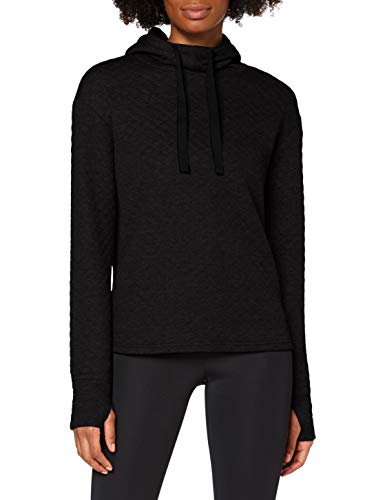 Marchio Amazon - AURIQUE Felpa con Cappuccio Sportiva Super Soft Donna, Nero (Black), 44, Label:M