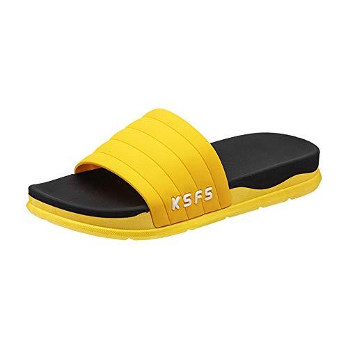 TDYSDYN Sandalias de Punta Descubierta para Mujer,Zapatillas de Plataforma Antideslizantes, Zapatillas de baño.-6_40-41
