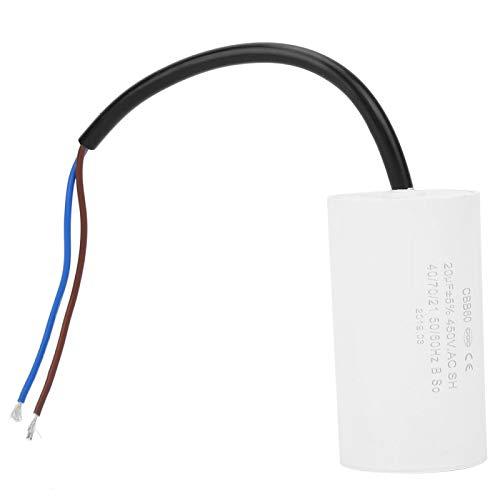 Condensador de arranque de motor CBB60 Condensador de arranque de motor 450V 20uF Condensador de microfaradio con cable