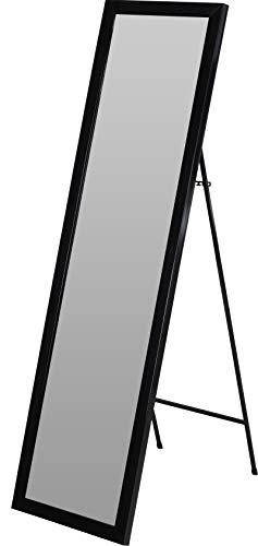 Fair-Shopping Spiegel Standspiegel Ganzkörperspiegel Ankleidespiegel stehend 125 cm Variation (Schwarz)