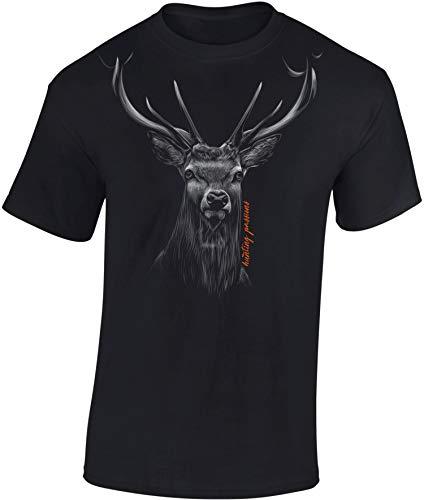 Jäger T-Shirt: Hunting Passion - Geschenk für Jäger - Jägerbekleidung Jagdkleidung Herren - Geschenke für Männer - Jagd Tshirt - Hirsch Eber Grill BBQ Army Hunter Waidmannsheil (Schwarz XL)