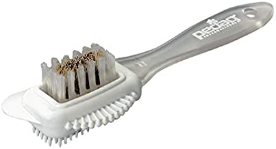 pedag Suede Shoe Cleaner Brush | German Made 4-Way Cleaning & Refreshing Brush for Suede Leather Products with Brass & Nylon Bristles