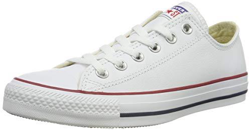 Converse Chuck Taylor Core Lea Ox, Sneaker unisex adulto, Bianco (Blanc), 39