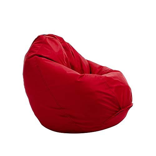 Bruni Sitzsack Classico L in Rot – XL Sitzsack mit Innensack zum Lesen, Abnehmbarer Bezug, lebensmittelechte EPS-Perlen als Bean-Bag-Füllung, aus Deutschland