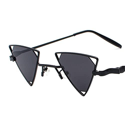 Gafas de sol punk Hombres y mujeres Parejas Triángulo Hollow Gafas de sol Hip-Hop Personalidad Metal Gafas de sol (Color : H)