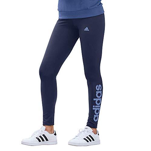 adidas womens Linear Leggings Legend Ink/Crew Blue Large