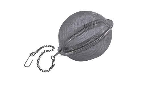 Metaltex 2047402 Thé et d'épices Balle 7,5 cm avec Chaine en INOX, Acier Inoxydable