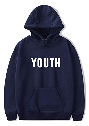 Silver Basic Unisex Felpe con Cappuccio Manica Lunghe Stampa di Shawn Mendes Tour 2018 Youth Lost in Japan,Blu Marina Youth-1,M…