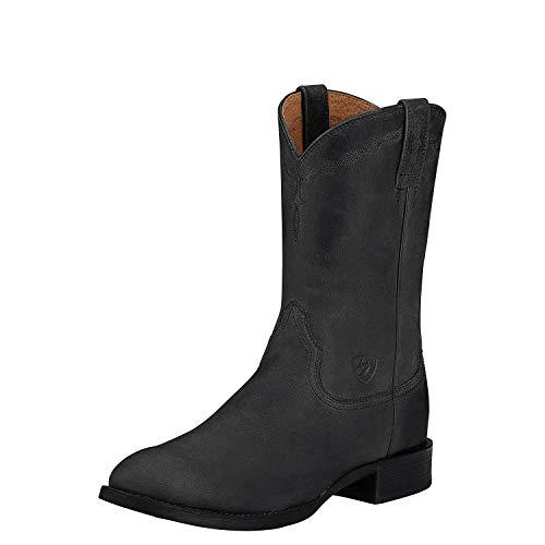Ariat Men's Heritage Roper Western Cowboy Boot, Black, 13