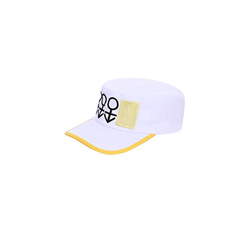 WOSHOW JoJo's Bizarre Adventure Diamond is Unbreakable Kujo Jotaro Cosplay White hat Peaked Cap