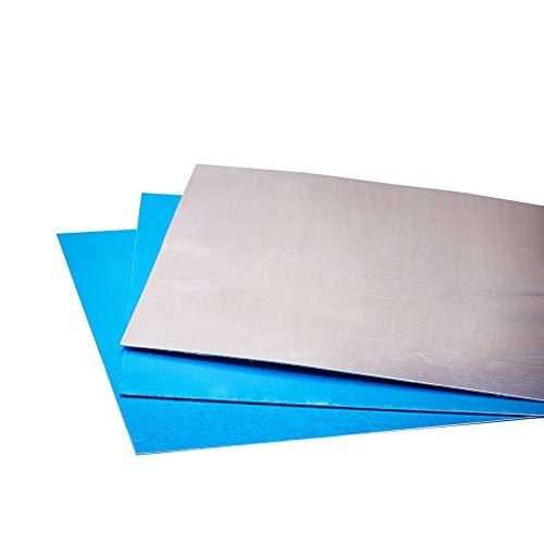 PandaHall 12 hojas de aluminio fino de 15 x 15 cm, sin chapado, placa de aluminio para manualidades, paquete de manualidades para hacer joyas, estampado a mano, grabado en relieve