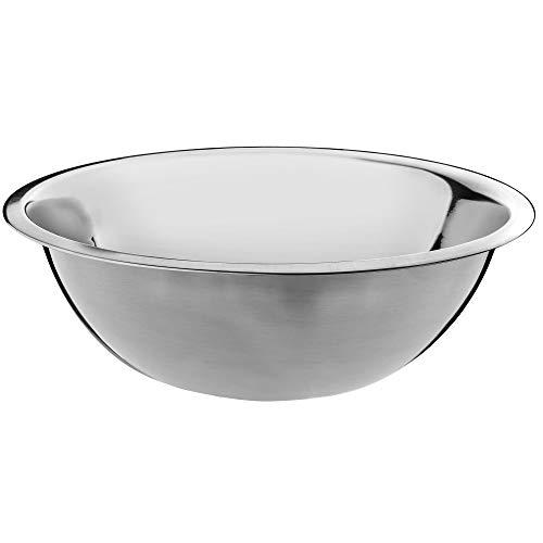 KADAX Schüssel aus Edelstahl, Rührschüssel, Salatschüssel mit hohem Rand, multifunktionale Küchenschüssel, Servierschüssel, Edelstahlschüssel für Küche, Salat, Teig, rund (Ø 30 cm)