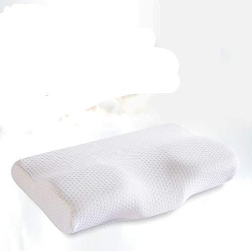 yywl Almohada de espuma viscoelástica con forma de mariposa, para adultos, rebote lento, para dormir, almohada de viaje
