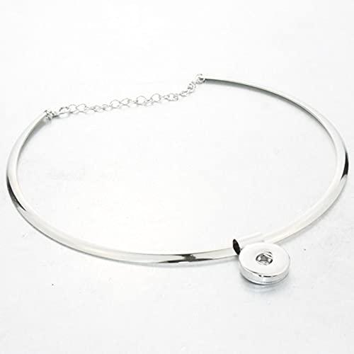 DOOLY Snap Jewelry Mujeres clásicas Torques 18 mm botón a presión Collar Boho Bohemio Collares y Colgantes Unisex joyería de Bricolaje
