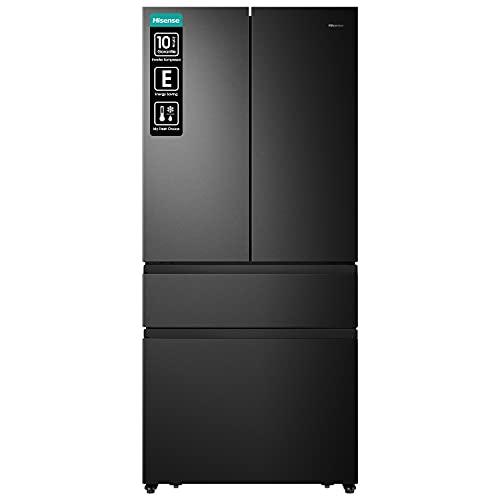 Hisense RF540N4SBF2 French Door Kühl-Gefrierkombination/ NoFrostPlus/ Inverter-Kompressor/ Multiflow 360°/ SuperCool/ 181,7 cm/ Kühlteil 302 l/ Gefrierteil 178 l/ 40 dB/ 310 kWh/ Jahr/ Schwarz