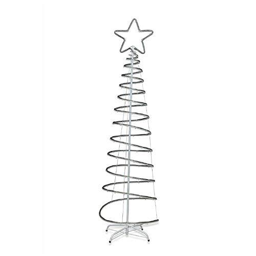 Galileo Casa Albero a Spirale Bianco-Blu, N° LED: 240 Totale: 15 m Lunghezza Cavo: 12 m Massima Potenza: 3,6 W