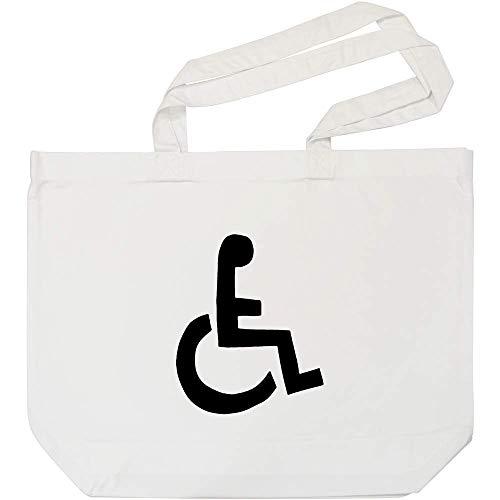 Azeeda 'Rollstuhl-Symbol' Weiße Einkaufstasche (BG00028782)