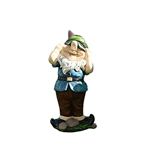 XCH 1PC Christmas Decoration Naughty Garden Elf Yard Art Funny Gnome or Elf Home Decoration Garden Gnomes Statue Ornament Indoor Outdoor Lawn Decoration Christmas Mini Garden Gnomes