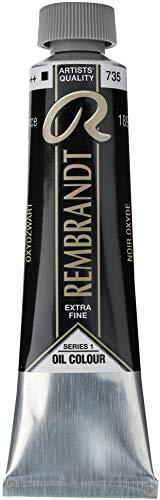 Talens Rembrandt - Excelentes colores de pintura al óleo - 40 ml - 735 Negro óxido