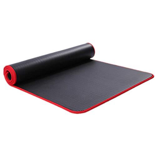 Yhjkvl Esterilla de yoga MatNBR para hacer ejercicio, gimnasio, pilates, antideslizante, impermeable, con dobladillo, con cinturón trasero, alfombrilla de ejercicio antideslizante