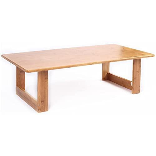 Eortzzpc Mesa Auxiliar del sofá, Tabla de Estudio multifunción de la Mesa de bambú de bambú de la Mesa Plegable 10 0X50X30 CM Table, Mesa Auxiliar para Sala de Estar
