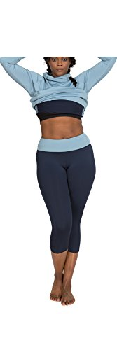 Plus Size Capri Pants for Women - 1X - Full Figure Stretch Workout Capri Leggings - Side Pocket for Phone & Music - use for Yoga & Running - from Katie K Active - Made & Designed in USA (NYC)