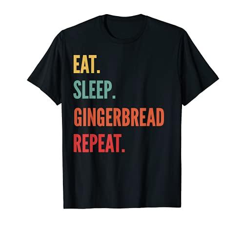 Divertido regalo para hacer casa de jengibre, come el pan de jengibre H Camiseta
