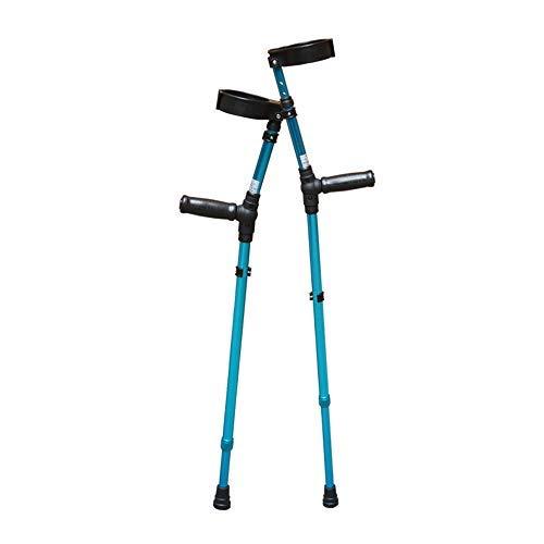 GYW-YW Bastones Muletas Codo luz bajo Las muletas de antebrazo Rehabilitación Antideslizante bastón con el Hospital (Color: Plata) (Color : Blue) ⭐