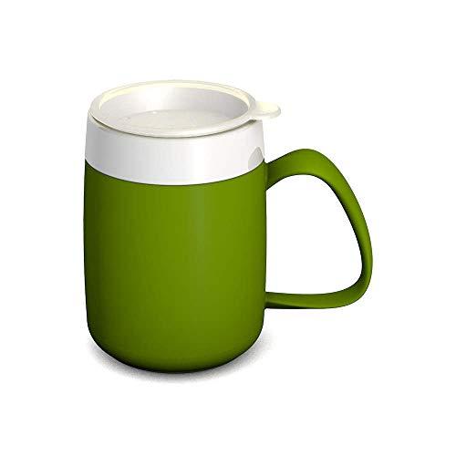 Ornamin Becher mit Trink-Trick 140 ml grün mit Thermofunktion und Trinkdeckel (Modell 207 + 814) / Spezial-Trinkhilfe, Nasenbecher, Schnabelbecher