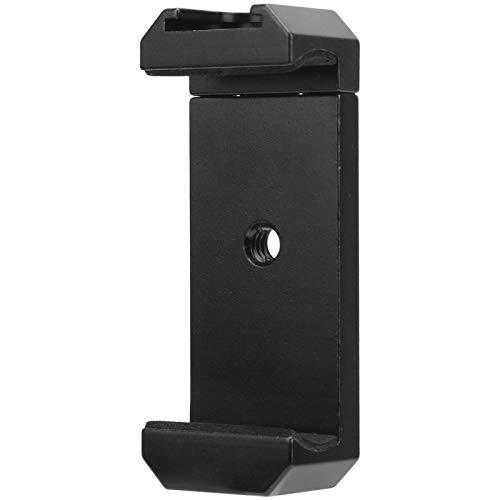 Pinsofy Soporte para teléfono móvil, Robusto y cómodo de Usar, Clip de aleación de Aluminio de 5‑8 CM / 2‑3,1 Pulgadas de Ancho para trípodes de Viaje en casa
