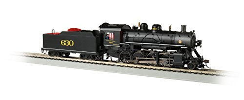 Bachmann Baldwin 2-8-0 DCC Sound Value Equipped Locomotive - Southern #630 - HO Scale, Prototypical black