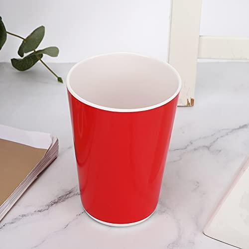 Copa de Agua Brillante, Limpieza de lavavajillas Hecho de Suministros para el hogar de melamina 80 x 110 mm (Rojo)
