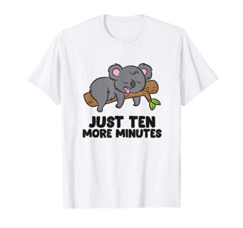 Koala Sólo diez minutos más Pijama Koala Camiseta