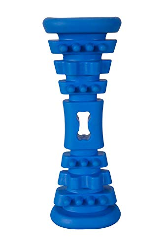 Mountain Warehouse Kauhantel für Hunde - Leichter Knochen, strapazierfähig, Robustes Hundespielzeug, strukturiert, Kauspielzeug - Für zu Hause, im Park oder Picknick Blau Einheitsgröße