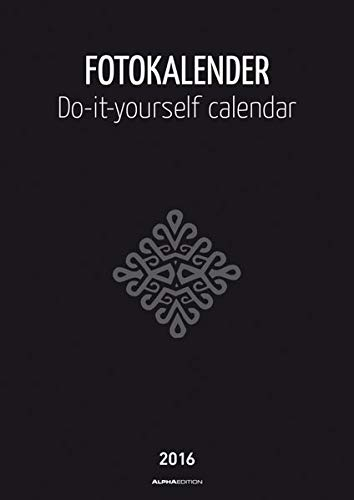 Foto-Bastelkalender schwarz 2016 - Bastelkalender / Do it yourself calendar A4 - datiert - Kreativkalender - Valentinstag-Kalender