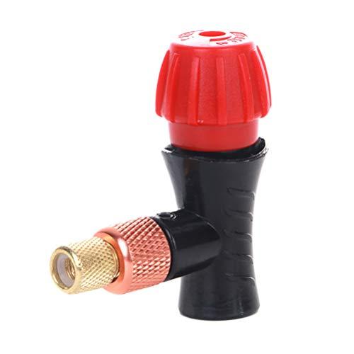LIOOBO Cabeza de Bomba de neumático de Bicicleta de Cabeza de inflador de CO2 Compatible para Bomba de neumático de Bicicleta