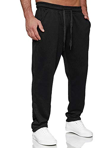 Tazzio Herren Jogginghose Regular Fit Sporthose Fitness Freizeit Hose Trainingshose Sweat Sweatpants Jogger | C100 Schwarz XXL