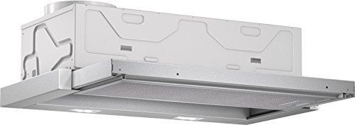 Bosch DFL064A50 Serie 4 Flachschirmhaube / D / 60 cm / Silbermetallic / wahlweise Umluft- oder Abluftbetrieb / Wippenschalter / Intensivstufe / Metallfettfilter (spülmaschinengeeignet)
