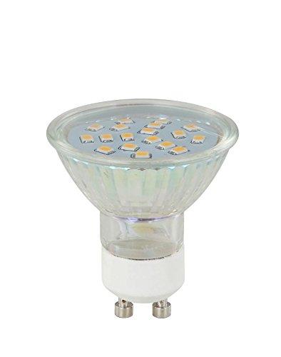 LED Leuchtmittel Fassung GU10 3 Watt Ersatzbirne (LED-Glühlampe, Ersatz-Leuchtmittel, Glas Klar, Warmweiß, EEK A+)