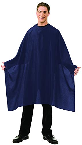 Betty Dain Lightweight Crinkle Nylon Hair Cutting/Styling Cape, Water Resistant, Machine Washable, Permanent Crinkle Nylon, Repels Hair, Snap Closure at Neck, Generous 54 x 60 inch Size, Navy