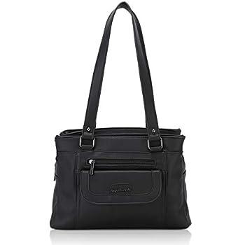 Angel Barcelo Women Soft Leather Handbags Satchels Shoulder Bags Casual Purses Top-Handle Handbag for Girl Black